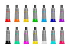 Tubki farba w różnych kolorach również zwrócić corel ilustracji wektora Zdjęcie Royalty Free