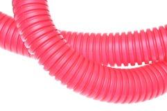 Tubo acanalado del plástico rojo Foto de archivo libre de regalías