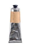 Tubo amarrotado do metal com trajeto de grampeamento Imagem de Stock Royalty Free