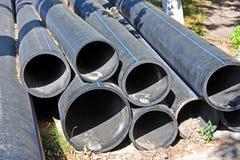 Tubo apilado del PVC Imagen de archivo
