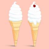 Tubo astratto del gelato con la ciliegia. Immagini Stock Libere da Diritti