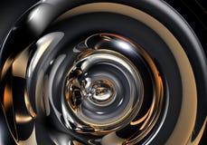 Tubo astratto del metall Fotografie Stock