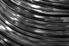 Tubo astratto della curva del metallo Immagine Stock