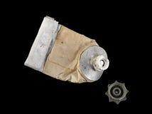 tubo Casi-vacío de la pintura de petróleo del artista Imagen de archivo