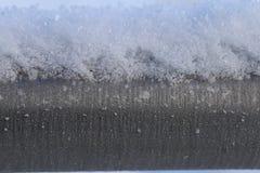 Tubo colorato d'argento congelato del metallo immagine stock
