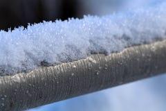 Tubo colorato d'argento congelato del metallo fotografie stock
