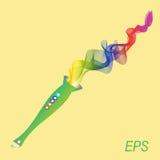 Tubo, colore, luminosità, suono, musica Immagine Stock