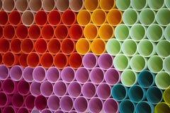Tubo colorido del pvc Foto de archivo libre de regalías