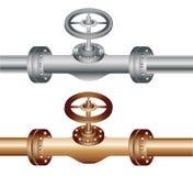 Tubo con el metal y el latón ilustración del vector
