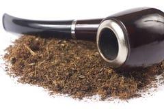 Tubo con el tabaco Fotografía de archivo libre de regalías