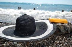 Tubo con la protección del sol Imágenes de archivo libres de regalías