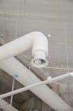 Tubo d'acciaio industriale di ventilazione Fotografie Stock Libere da Diritti