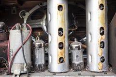Tubo d'annata della valvola dell'amplificatore Immagini Stock Libere da Diritti
