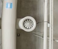 Tubo de acero industrial de la ventilación Fotografía de archivo