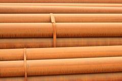 Tubo de acero oxidado foto de archivo libre de regalías
