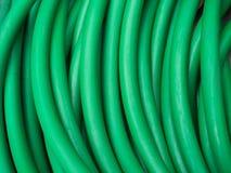 Tubo de borracha da água verde Foto de Stock Royalty Free