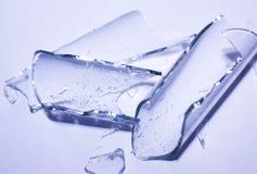 Tubo de cristal roto Imágenes de archivo libres de regalías
