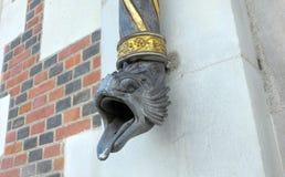 Tubo de desagüe con la boca de la serpiente en Blois, Francia Imagenes de archivo