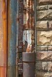 Tubo de desagüe oxidado Imágenes de archivo libres de regalías