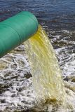 Tubo de desagu'e de las aguas residuales Foto de archivo