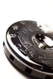 Tubo de echada de plata del círculo para la música Fotos de archivo libres de regalías
