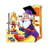 Tubo de ensaio da experiência do cientista de Chemical do alquimista ilustração stock
