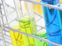 Tubo de ensayo colorido, sustancia química, ciencia, laboratorio, Fotos de archivo