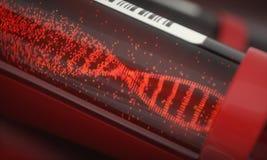 Tubo de ensayo de la DNA Foto de archivo libre de regalías