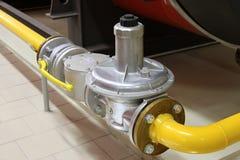 Tubo de gas y puerta del segmento Foto de archivo