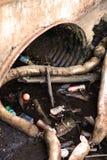 Tubo de la basura Imagenes de archivo