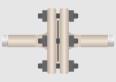 tubo de la conexión 4.Type. Ilustración del Vector