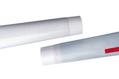 Tubo de la crema dental Fotos de archivo libres de regalías