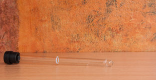 Tubo de la sangre de Vacutainer usado para la tarifa de sedimentación de eritrocito Fotografía de archivo