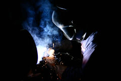 Tubo de la soldadura Imagen de archivo libre de regalías