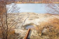 Tubo de las aguas residuales Fotos de archivo