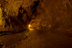 Tubo de lava de Thurston, parque nacional del volcán Fotografía de archivo