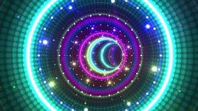 Tubo de néon da luz do túnel ilustração do vetor