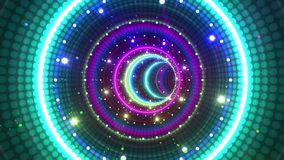 Tubo de neón de la luz del túnel ilustración del vector