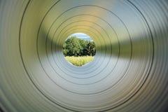 Tubo de plata Imágenes de archivo libres de regalías