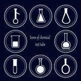 Tubo de prueba químico Foto de archivo libre de regalías