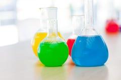 Tubo de prueba químico Imágenes de archivo libres de regalías