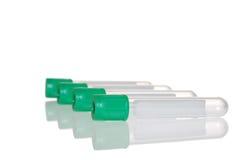 Tubo de prueba superior verde Imágenes de archivo libres de regalías