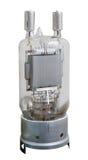 Tubo de radio electrónico del vacío del transmisor viejo Foto de archivo