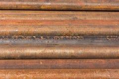 Tubo de taladro oxidado Fotografía de archivo libre de regalías