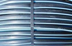 Tubo del abastecimiento de agua en tierras de labrantío Imagen de archivo