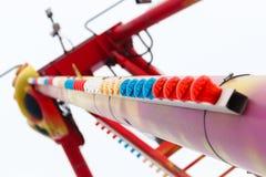 Tubo del color con las lámparas multicoloras Fotos de archivo libres de regalías