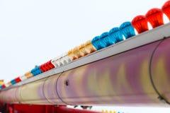 Tubo del color con las lámparas multicoloras Foto de archivo libre de regalías