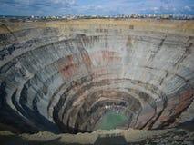 Tubo del diamante della kimberlite Immagine Stock Libera da Diritti