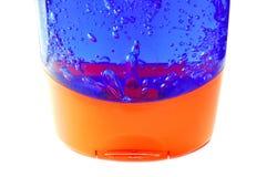 Tubo del gel con las burbujas imágenes de archivo libres de regalías