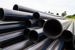 Tubo del HDPE para el abastecimiento de agua Fotos de archivo libres de regalías